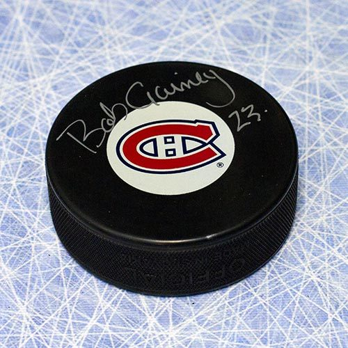 Bob Gainey Autographed Puck-Montreal Canadiens Hockey