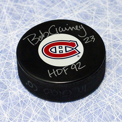 Bob Gainey Hall of Fame Signed Puck-Montreal Canadiens
