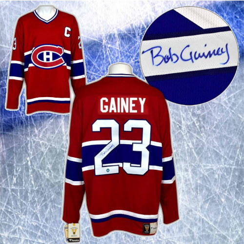 Bob Gainey Montreal Canadiens Autographed Fanatics Vintage Hockey Jersey