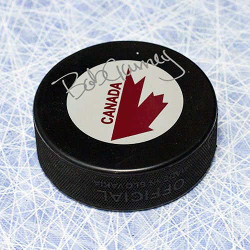 Bob Gainey Team Canada-Canada Cup Signed Hockey Puck
