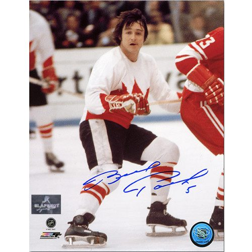 Brad Park Team Canada-Signed 1972 Summit Series Photo 8x10
