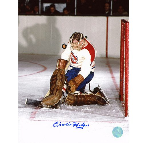 Charlie Hodge Autographed Photo-Montreal Canadiens Game Action 8x10