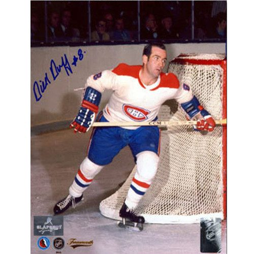 Dick Duff Signed Photo-Montreal Canadiens Action 8x10