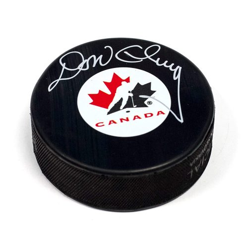 Don Cherry Team Canada Autographed Hockey Puck