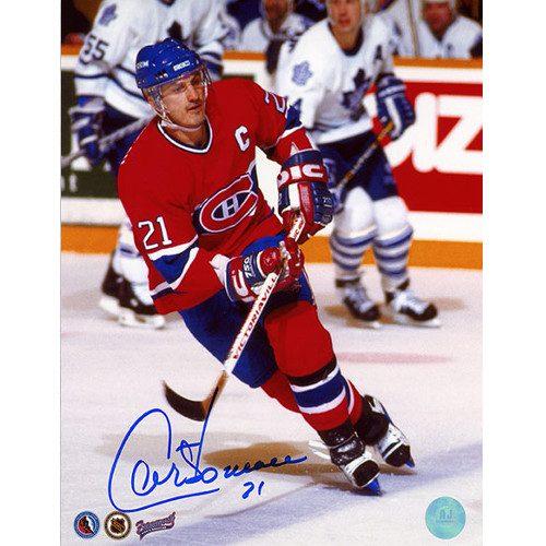 Guy Carbonneau Signed Photo-Montreal Canadiens Captain 8x10