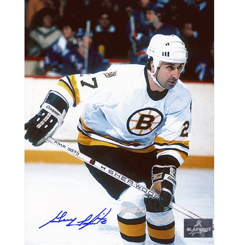 Guy Lapointe Boston Bruins Signed Photo Action Colour 8x10