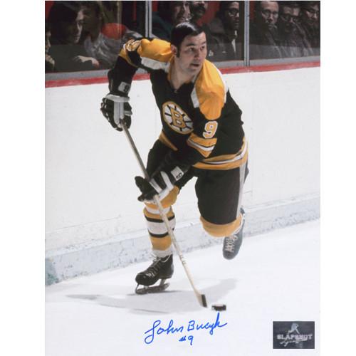 Johnny Bucyk Autographed Photo-Boston Bruins Playmaker 8x10
