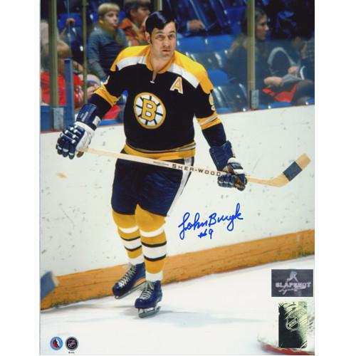 Johnny Bucyk Boston Bruins Autographed Skating 8x10 Photo