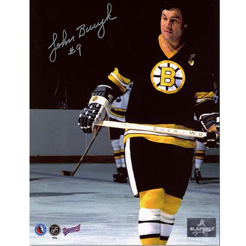 Johnny Bucyk Boston Bruins Signed Photo Close Up 8x10