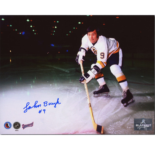 Johnny Bucyk Photo Signed-Boston Bruins On Ice Feature 8x10