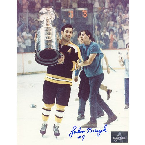 Johnny Bucyk Stanley Cup Boston Bruins Signed Photo 8x10