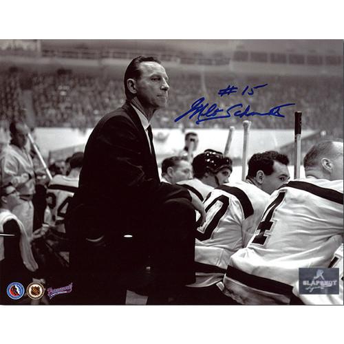 Milt Schmidt Coach Boston Bruins Autographed Photo 8x10