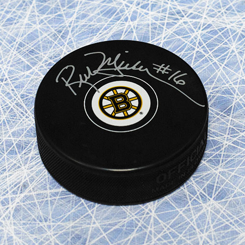 Rick Middleton Autographed Puck-Boston Bruins Hockey Puck