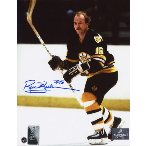 Rick Middleton Boston Bruins Signed Photo Hockey Action 8x10