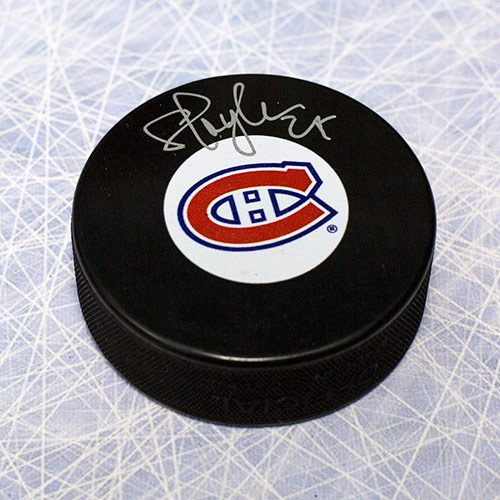 Shayne Corson Autographed Puck-Montreal Canadiens