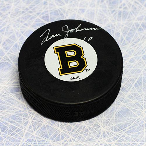 Tom Johnson Boston Bruins Autographed NHL Hockey Puck