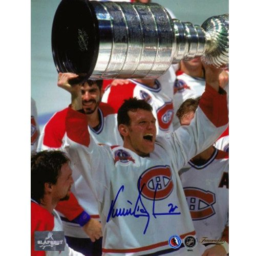 Vincent Damphousse 1993 Stanley Cup Signed Photo-Montreal Canadiens 8x10