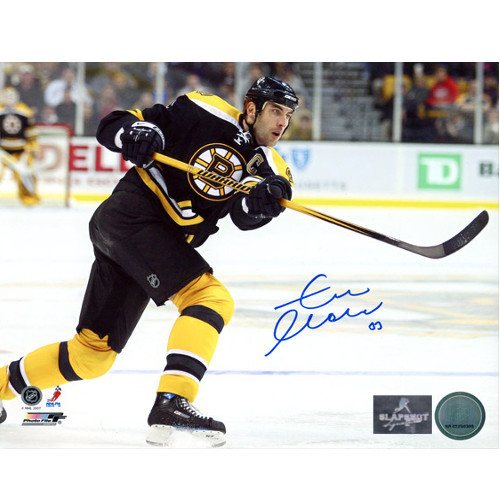 Zdeno Chara Captain Autographed Photo-Boston Bruins 8x10