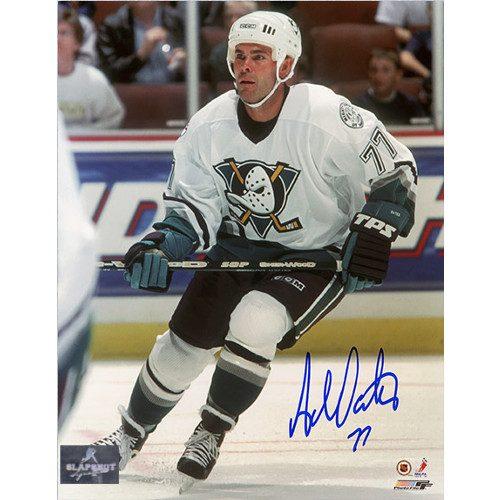 Adam Oates Anaheim Mighty Ducks Autographed 8x10 Action Photo