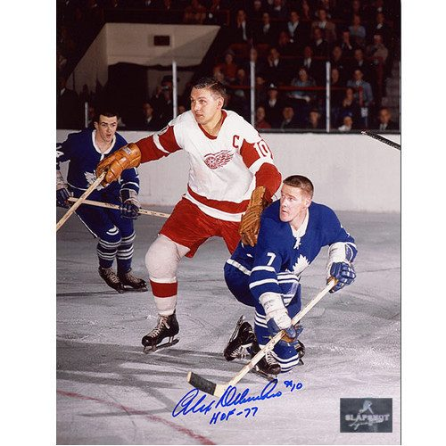 Alex Delvecchio Detroit Red Wings Signed Original Six 8x10 Photo