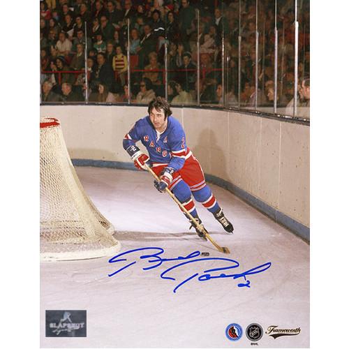 Brad Park New York Rangers Signed Photo Game Action 8x10