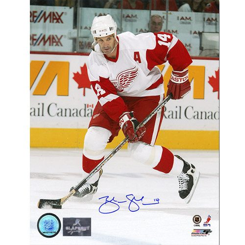 Brendan Shanahan Autographed Photo-Detroit Red Wings Playmaker 8x10