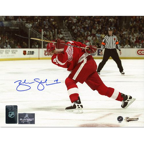 Brendan Shanahan Detroit Red Wings 500th Goal Autographed Photo-8x10