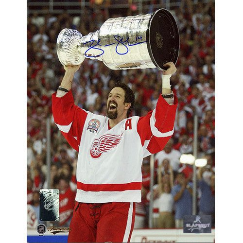 Brendan Shanahan Stanley Cup Signed Photo-Detroit Red Wings 8x10