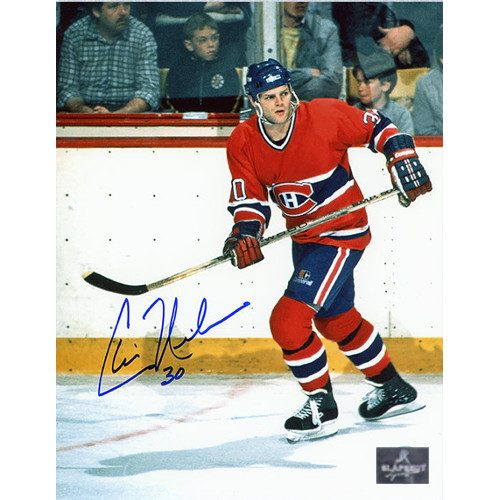 Chris Nilan Montreal Canadiens Signed On Ice Action 8x10 Photo