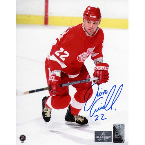 Dino Ciccarelli Detroit Red Wings Signed Hockey Action 8x10 Photo
