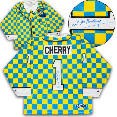 Don Cherry Signed Jersey- Yellow Checkered Custom Suit Hockey Jersey