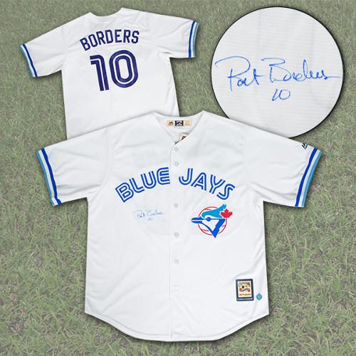Pat Borders Signed Jersey-Toronto Blue Jays Retro Jersey