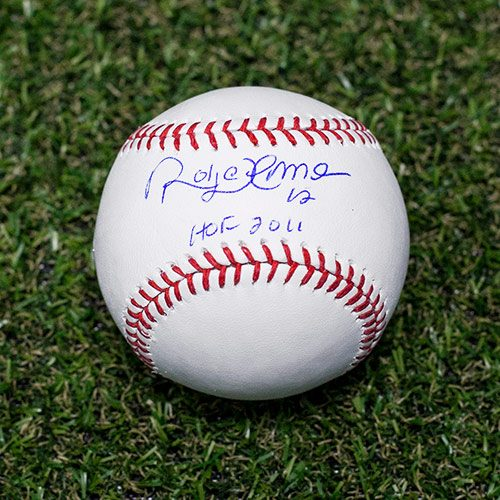 Roberto Alomar Signed Baseball Toronto Blue Jays HOF Inscription