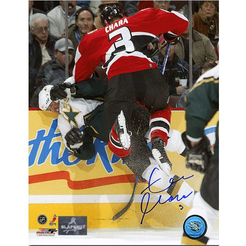 Zdeno Chara Ottawa Senators Fighting Autographed Photo 8x10