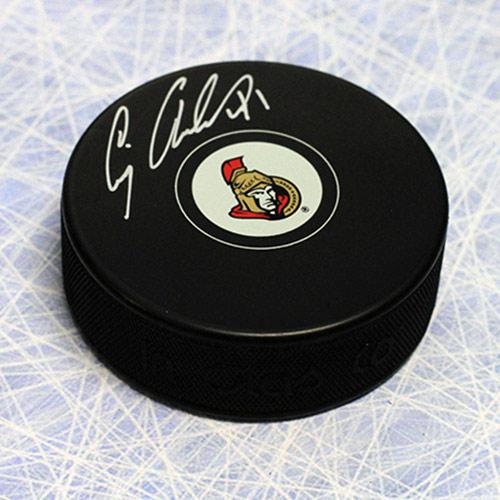 Craig Anderson Autographed Hockey Puck Ottawa Senators