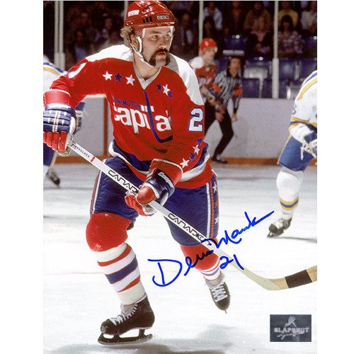 Dennis Maruk Washington Capitals Autographed Skating 8x10 Photo