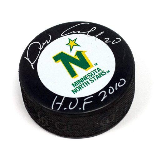 Dino Ciccarelli Hall of Fame Signed Hockey Puck Minnesota North Stars