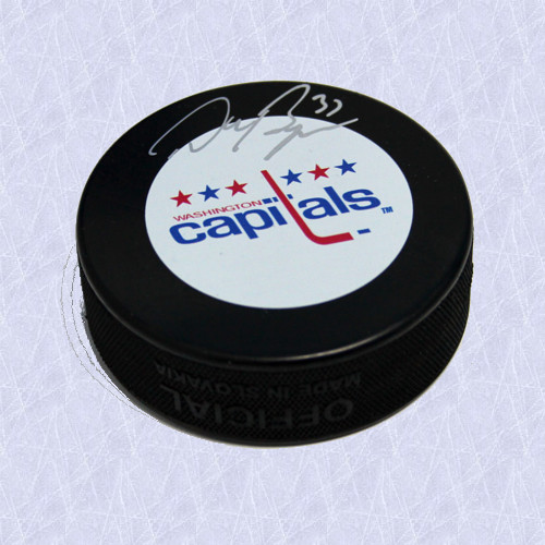 Don Beaupre Autographed Hockey Puck Washington Capitals