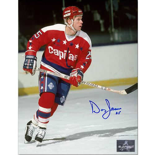 Doug Jarvis Washington Capitals Autographed Skating 8x10 Photo
