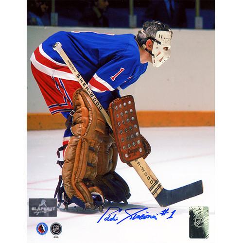 Ed Giacomin New York Rangers Autographed Photo 8x10
