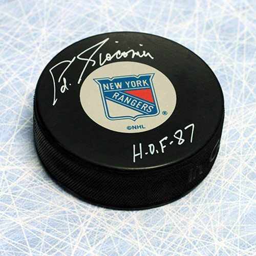 Ed Giacomin Signed Puck-New York Rangers Hockey Puck HOF Note
