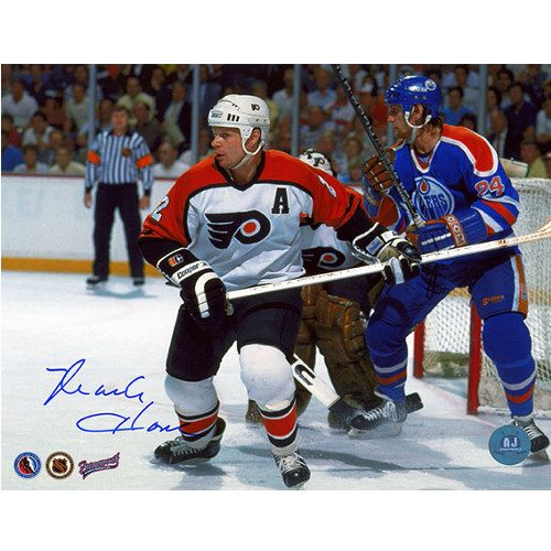 Mark Howe Philadelphia Flyers Autographed Photo 8x10
