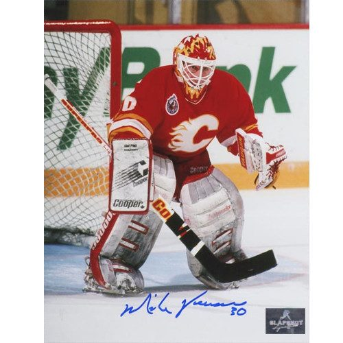 Mike Vernon Goalie Mask Signed Photo Calgary Flames 8x10