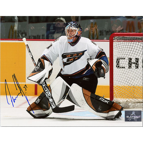 Olaf Kolzig Autographed Photo-Washington Capitals Hockey Goalie 8x10 Photo