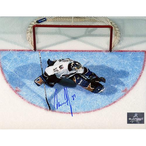Olaf Kolzig Signed Photo-Washington Capitals Goal Crease Overhead 8x10 Photo
