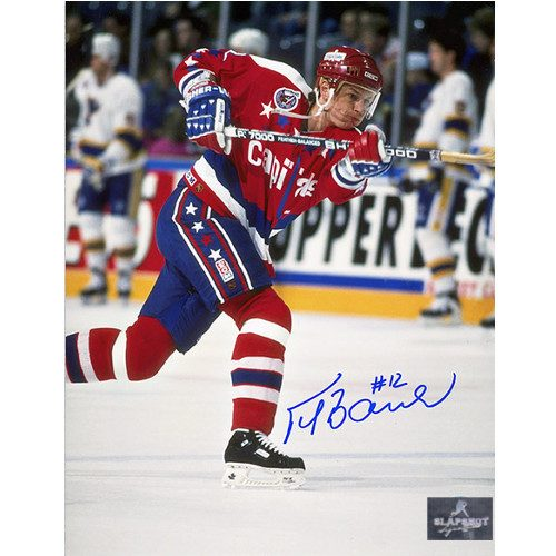 Peter Bondra Washington Capitals Autographed Shooting 8x10 Photo