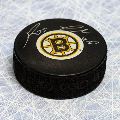 Reggie Leach Boston Bruins Autographed Hockey Puck