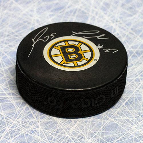 Reggie Leach Boston Bruins Autographed Hockey Puck