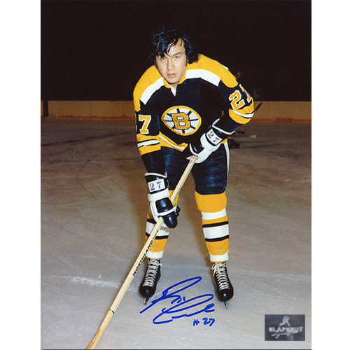 Reggie Leach Rookie Photo-Boston Bruins Signed 8x10 Photo