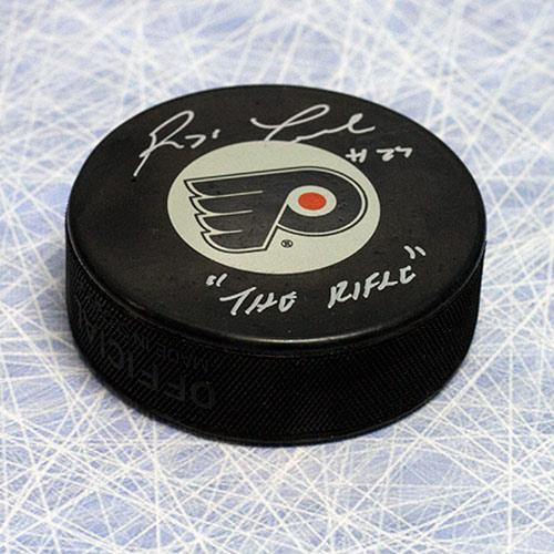 Reggie the rifle Leach Autographed Philadelphia Flyers Hockey Puck